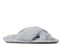 Dearfoams Jessica Furry CrissCross Slide