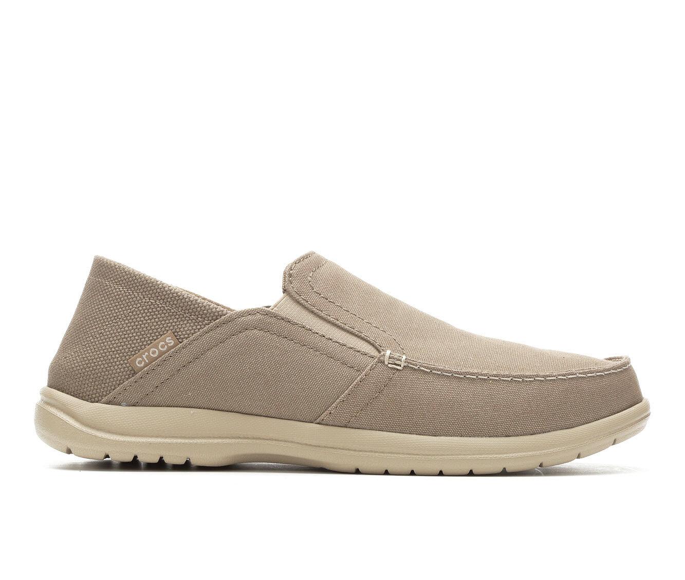 Men's Crocs Santa Cruz Convertible Slip On Loafer Khaki/Cobble