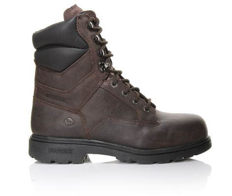 "Men's Wolverine 8"" Bulldozer Steel Toe Work Boots"