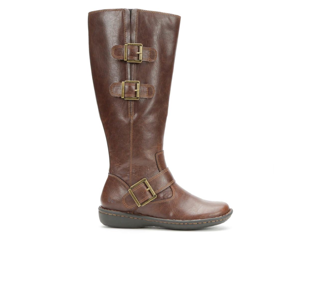 Women's B.O.C. Virginia Wide Calf Riding Boots Dark Brown