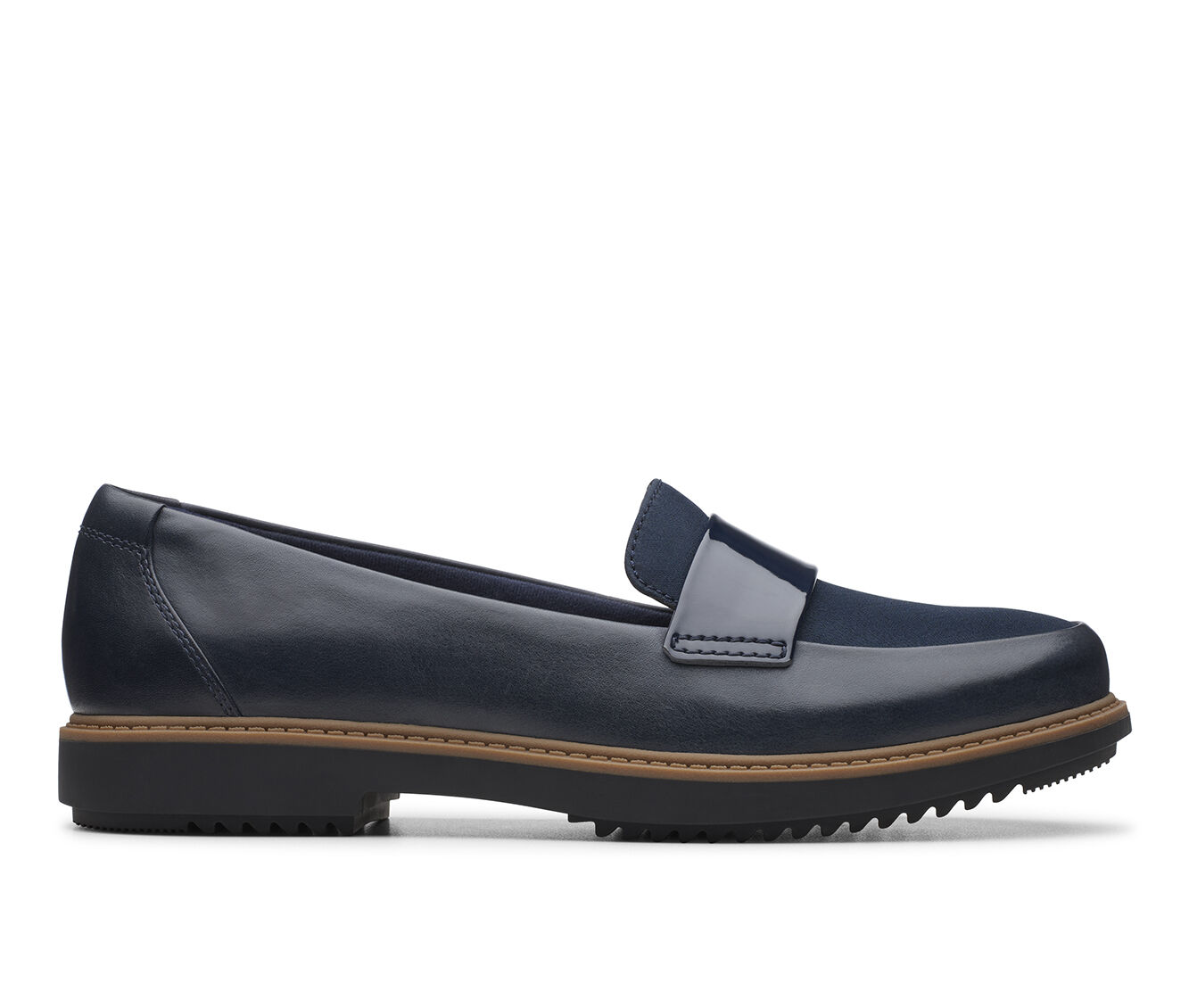 Women's Clarks Raisie Arlie Shoes Navy Combo