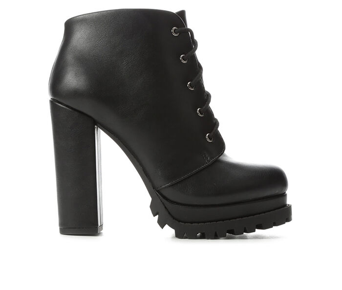 Women's Y-Not Action Platform Lace-Up Booties
