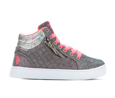 Girls' US Polo Assn Little Kid & Big Kid Marcia High-Top Sneakers