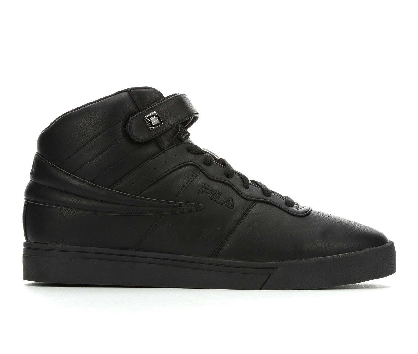 Men's Fila Vulc 13 Distressed Retro Sneakers Blk/Blk/Blk