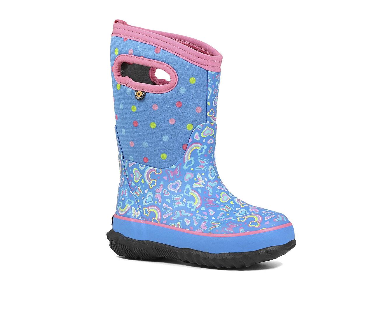 Toddler Girls BOGS Winter Snow Boots Black Purple Sz 7 or 8 Waterproof Warm CUTE