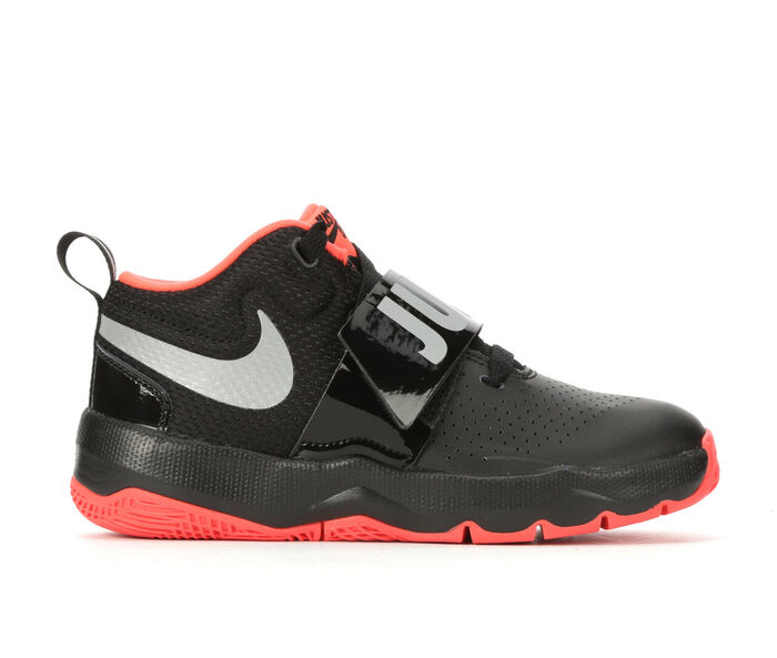 Boys' Nike Little Kid Team Hustle D8 JDI High Top Basketball Shoes