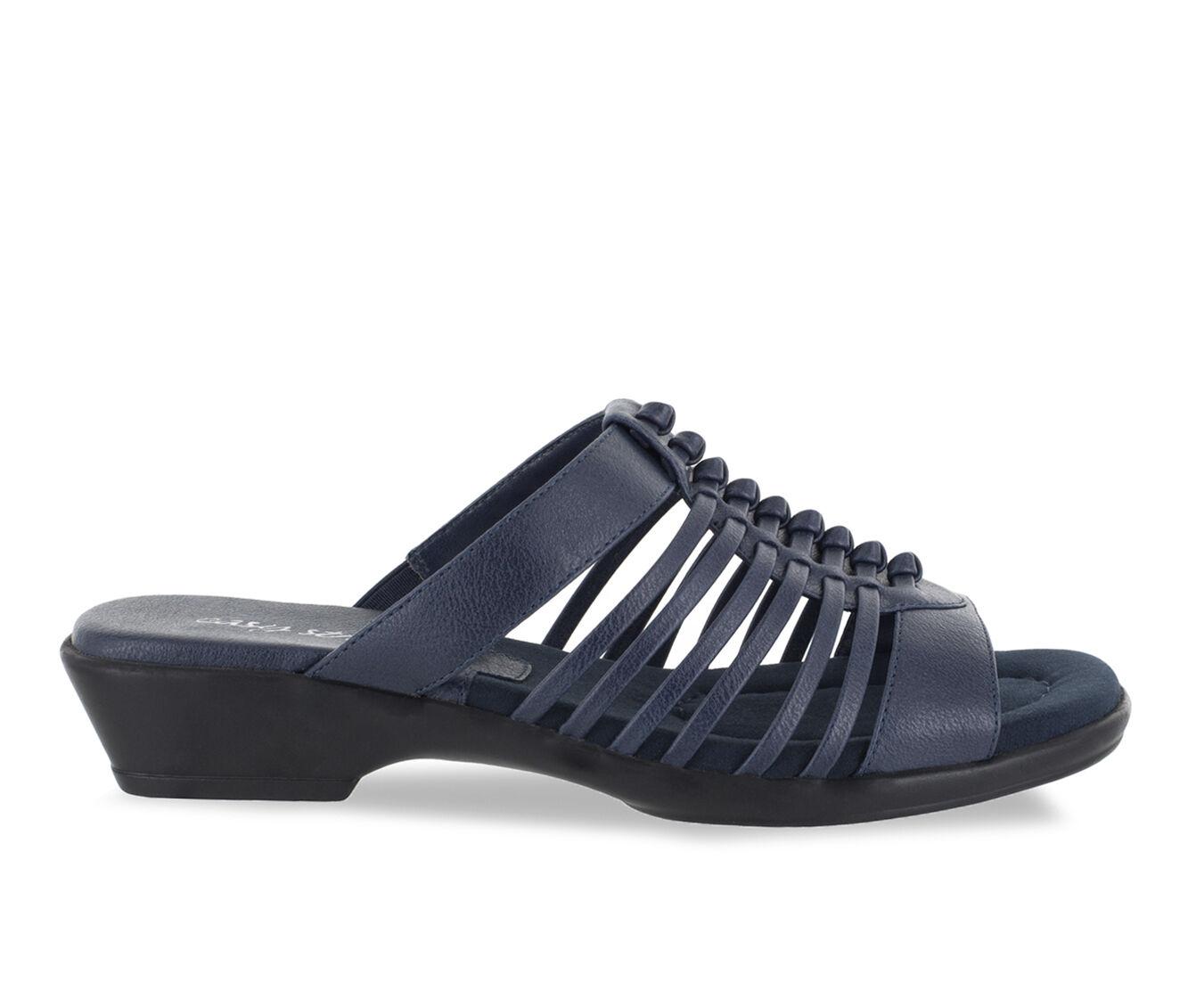 Women's Easy Street Nola Strappy Sandals Navy