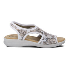 Women's Flexus Nyaman-Rose Slip-On Wedge Sandals