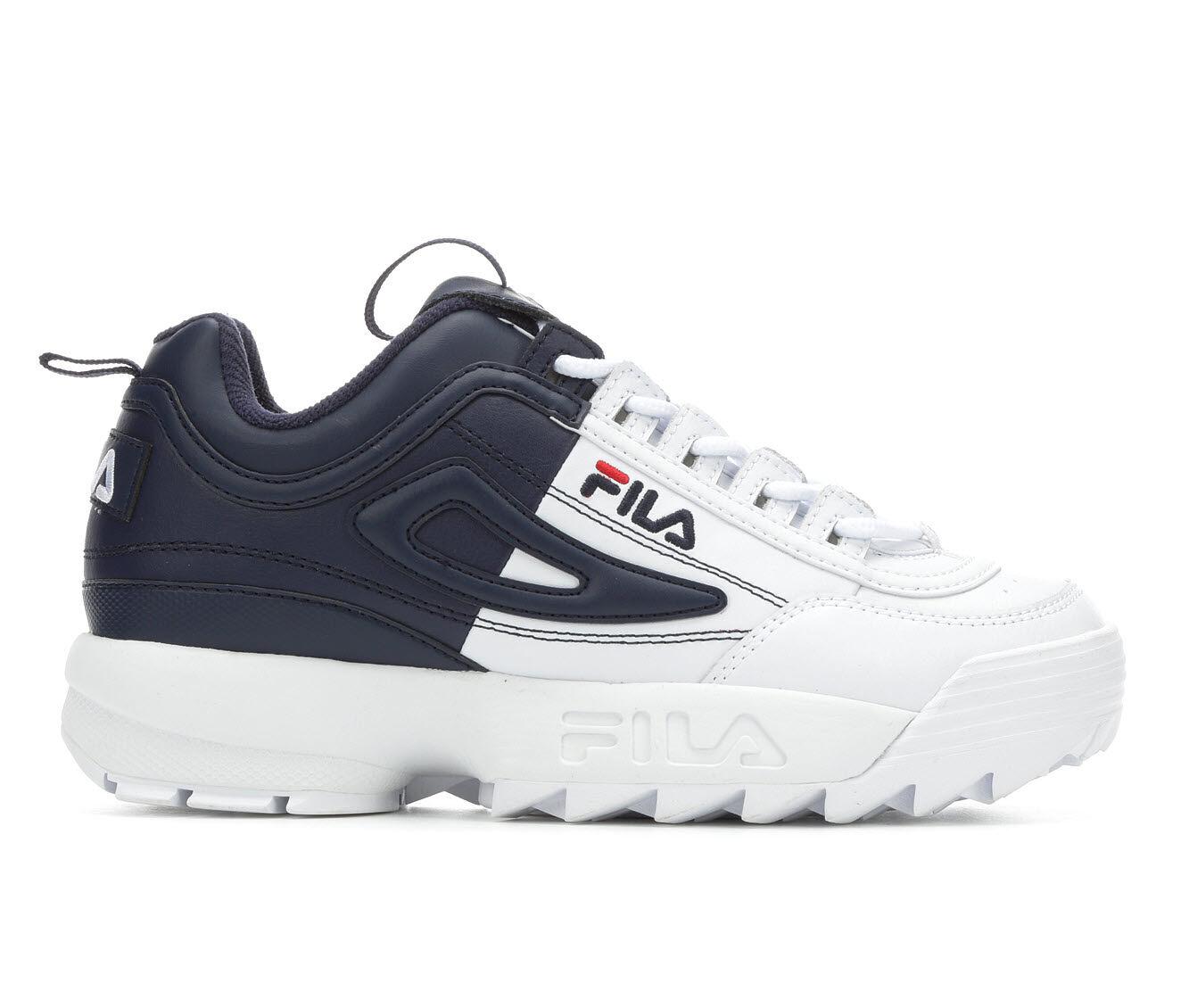 Women's Fila Disruptor II Split Sneakers White/Navy/Red