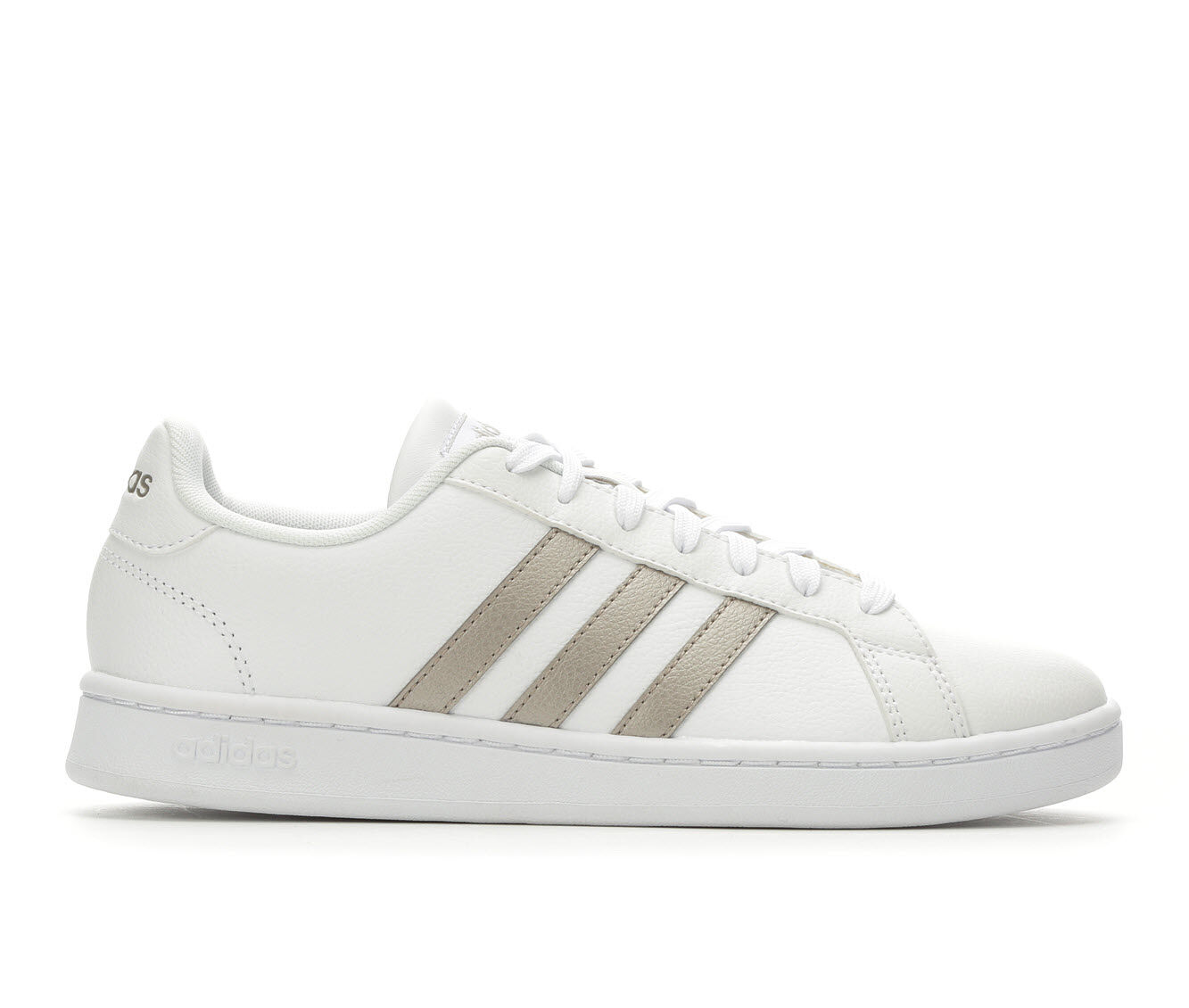 Sale Low Price Women's Adidas Grand Court Basketball Shoes White/Silver