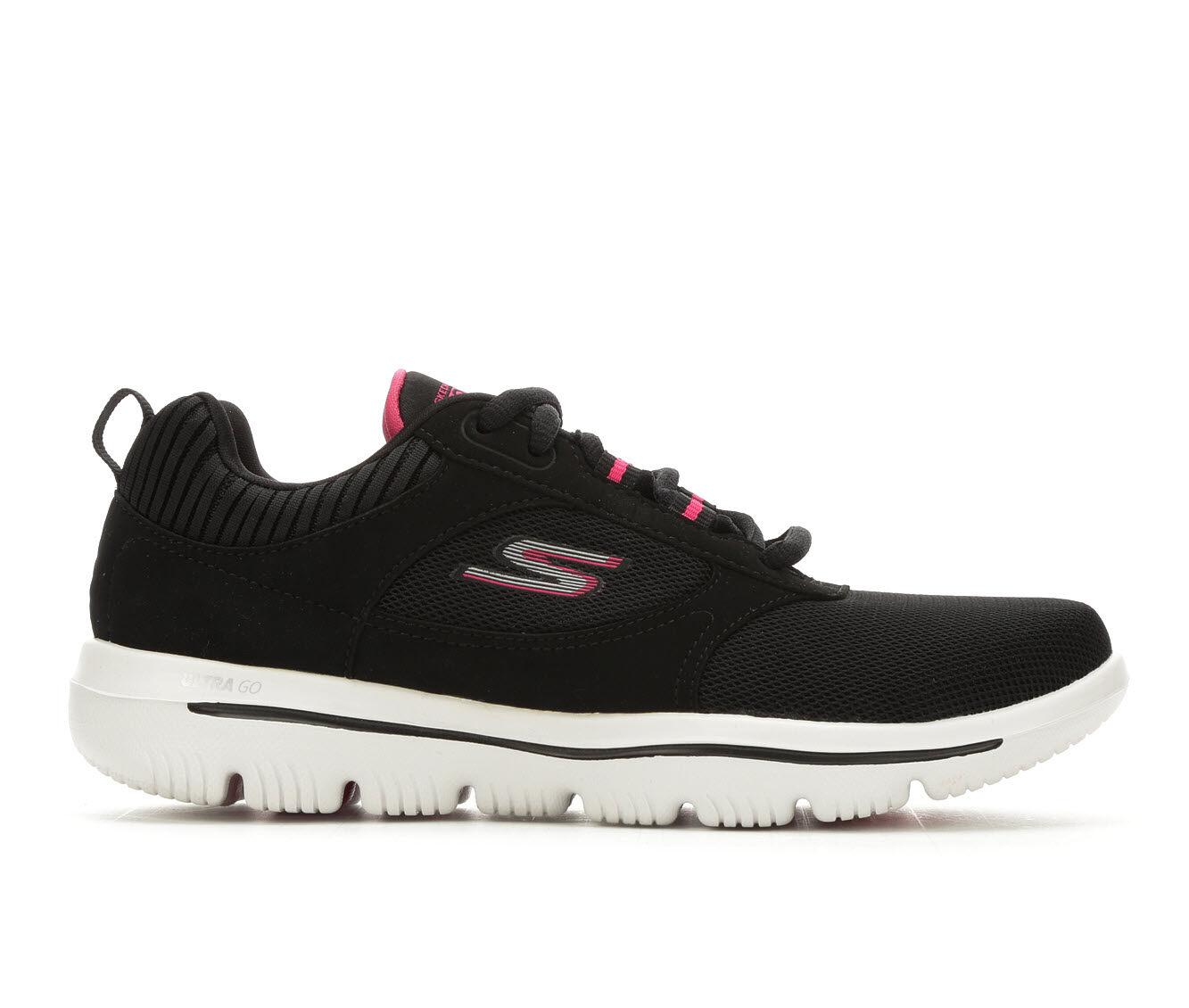 summer hot sale Women's Skechers Go Evolution Enhace 15734 Walking Shoes Black/Pink