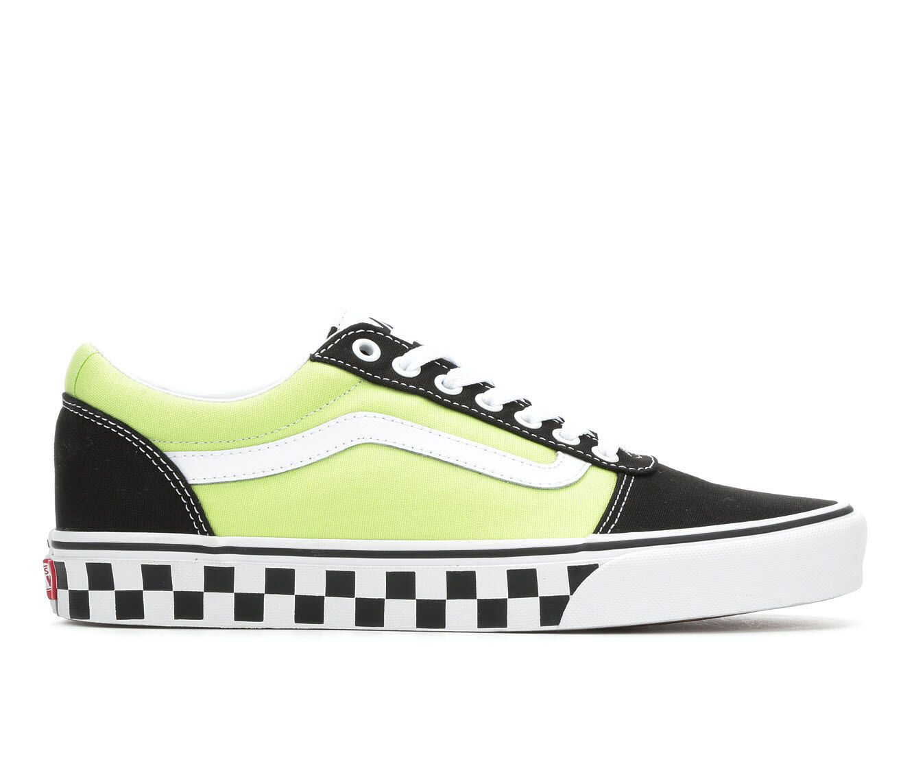 Men's Vans Ward Skate Shoes BlkGrn/Check