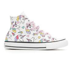 Girls' Converse Little Kid & Big Kid CTAS Rainbow Unicorn Hi Sneakers