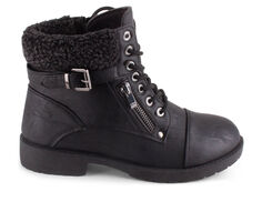 Women's Wanted Barrie Sweater Cuff Lace-Up Booties