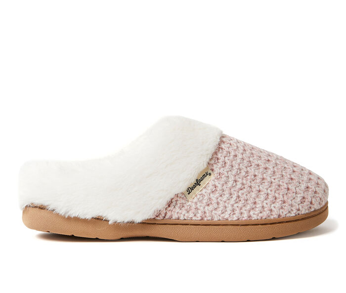 Dearfoams Claire Textured Knit Clog Slippers