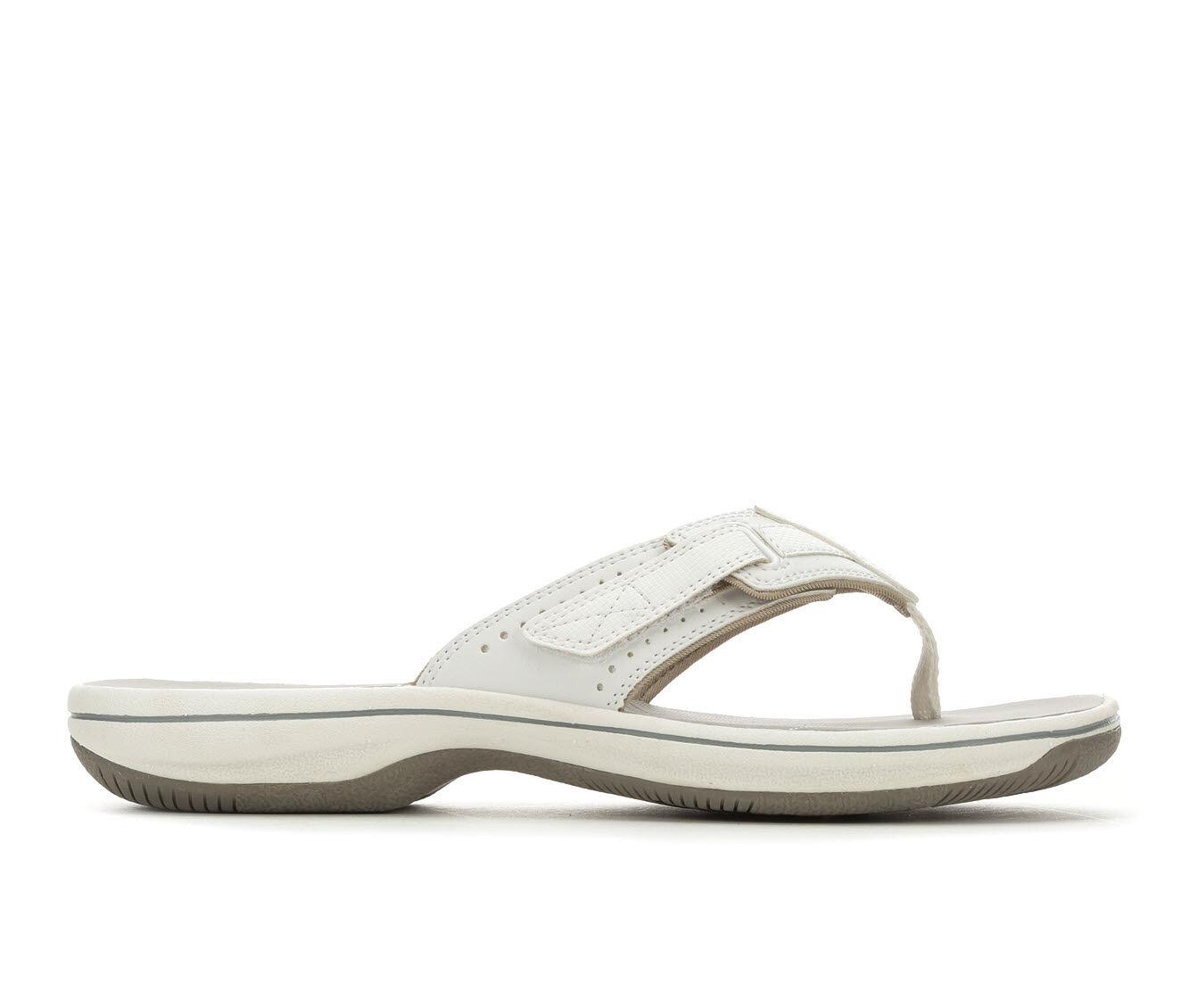 Women's Clarks Brinkley Reef Sandals White