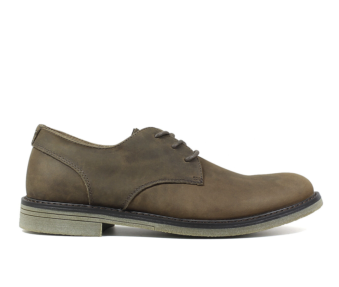 Men's Nunn Bush Linwood Plain Toe Oxford Dress Shoes Brown