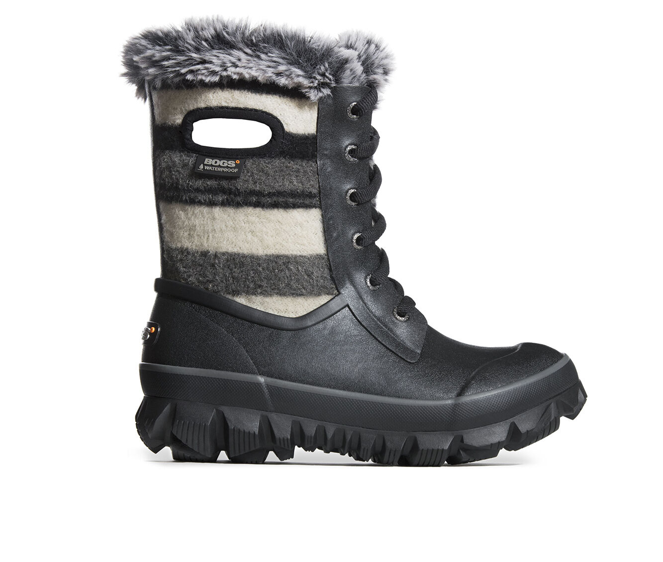 Women's Bogs Footwear Arcata Lace Stripe Winter Boots Black Multi