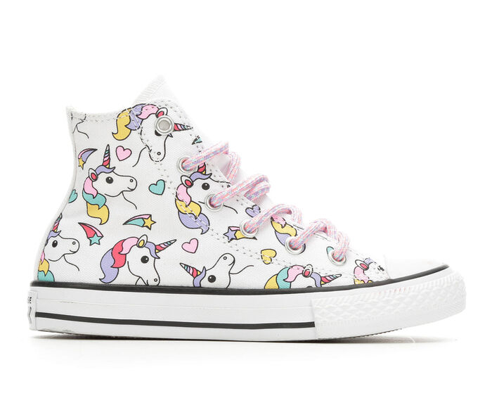 Girls' Converse Little Kid & Big Kid CTAS Rainbow Unicorn Hi Sneakers