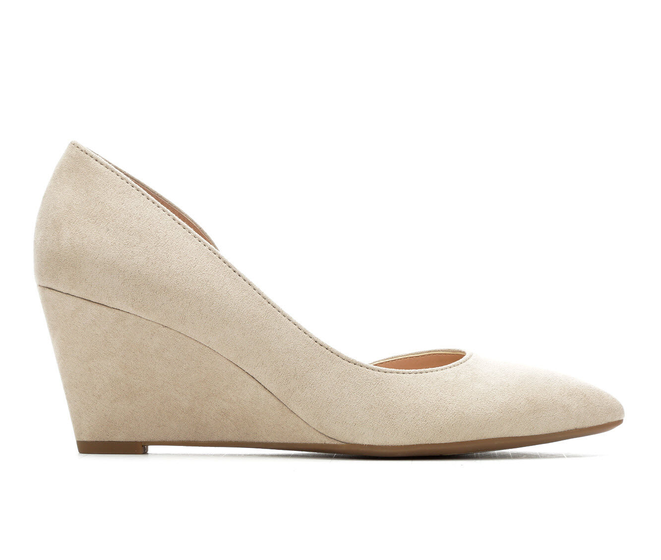 Women's Franco Sarto Francisco Wedges Satin Taupe