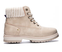 Women's Dirty Laundry Alpine Sweater Cuff Lace-Up Boots