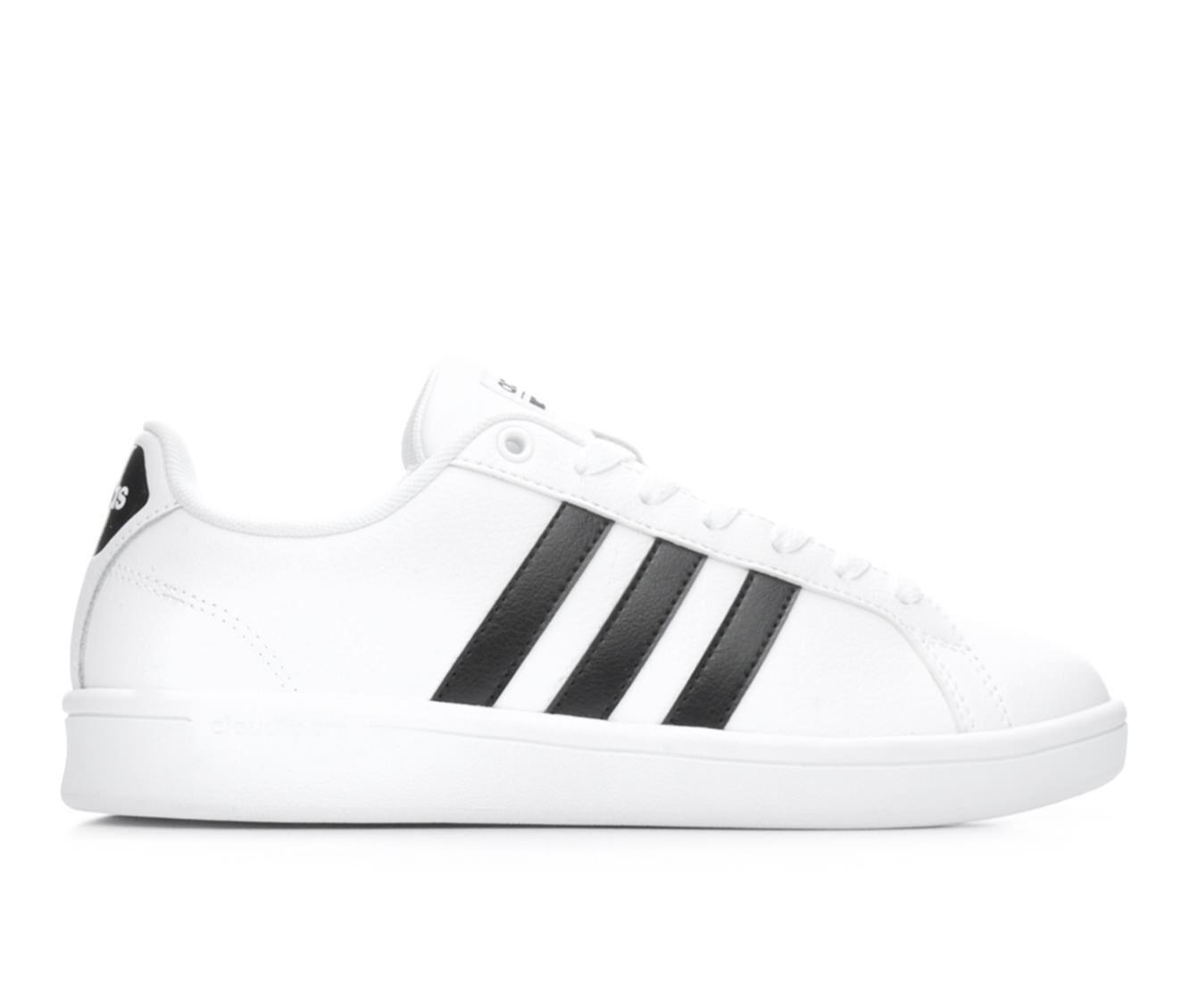 Women's Adidas Advantage Stripes Sneakers White/Black