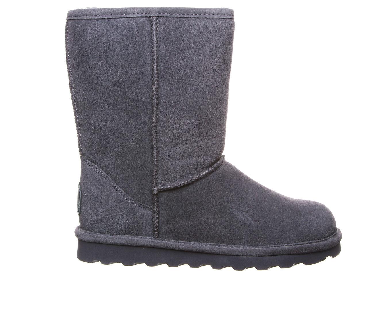 Women's Bearpaw Elle Short Wide Boots Charcoal