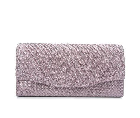 Four Seasons Handbags Small Diagonal Stripe Clutch