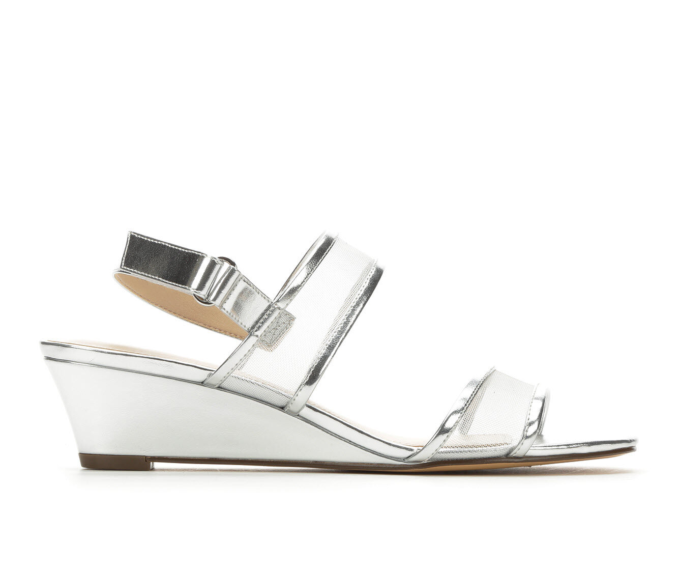 Women's Touch Of Nina Fliss Wedge Dress Sandals Silver