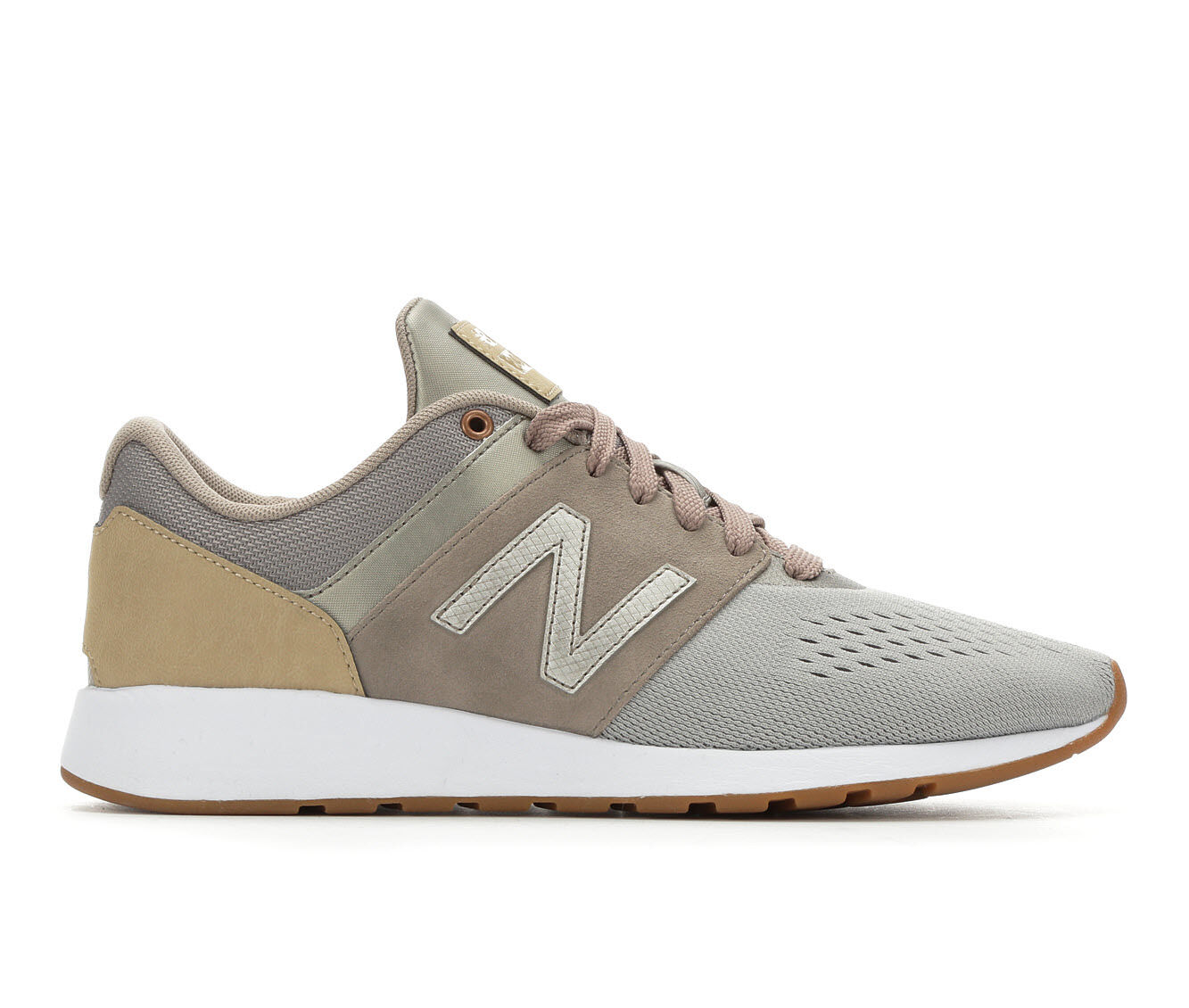 latest Women's New Balance WRL24V1 Retro Sneakers Brwn/Conch/Wht