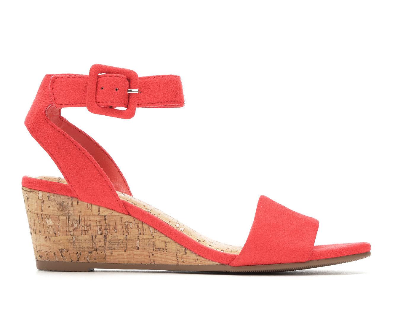 Top Quality Women's Solanz Ellie Wedge Sandals Watermelon Micr
