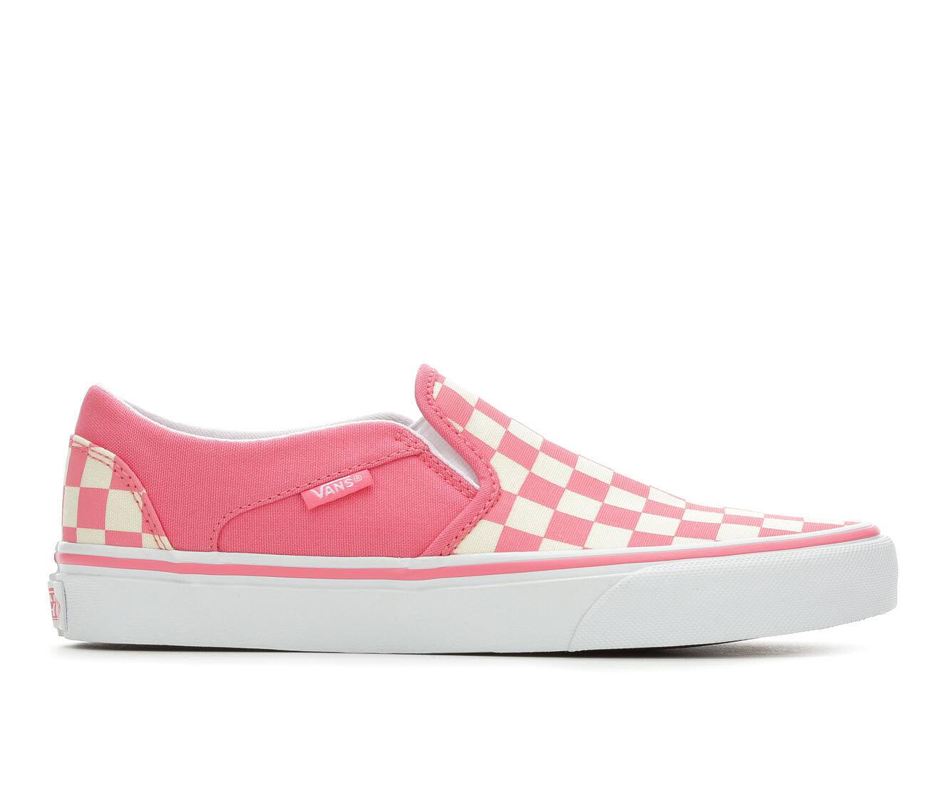 Women's Vans Asher Slip-On Skate Shoes Strbry/Wh Check