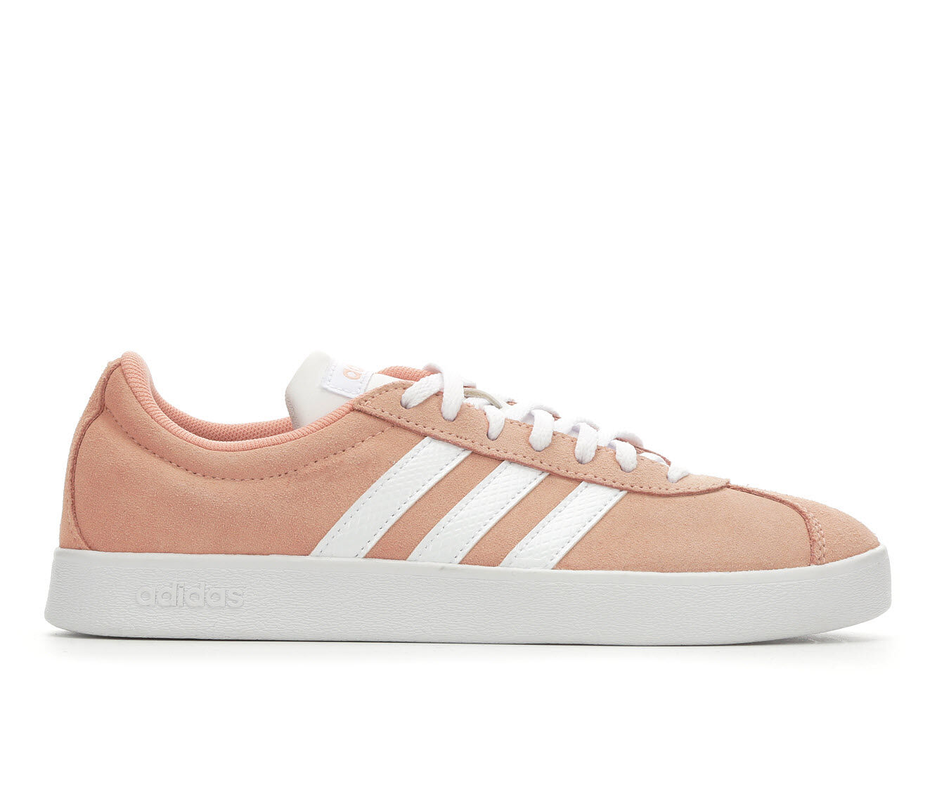 Women's Adidas VL Court 2.0 Tennis Shoes Pink/White/Gry