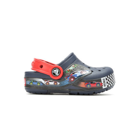 Boys' Crocs Inf Funlab Lights Cars 6-10 Light-Up Clog