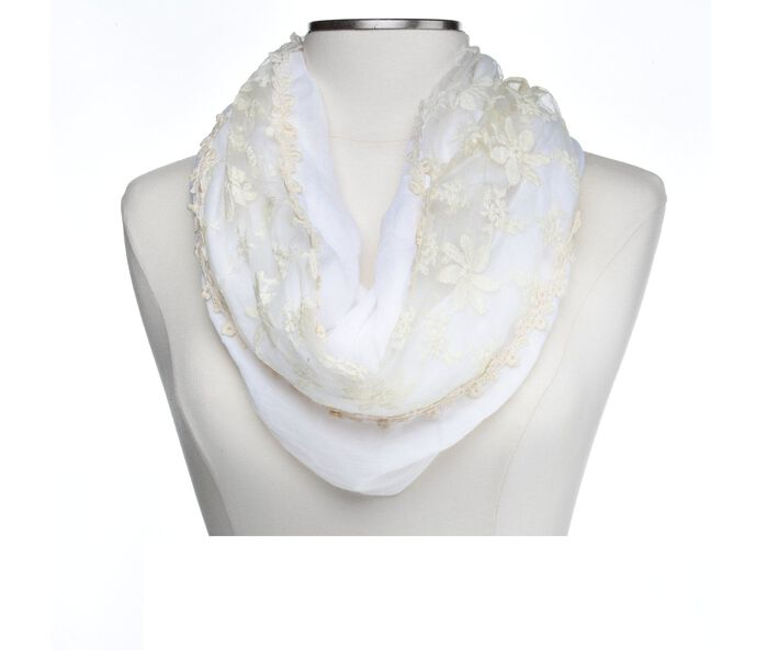 Collection 18 Floral Crochet Loop Scarf
