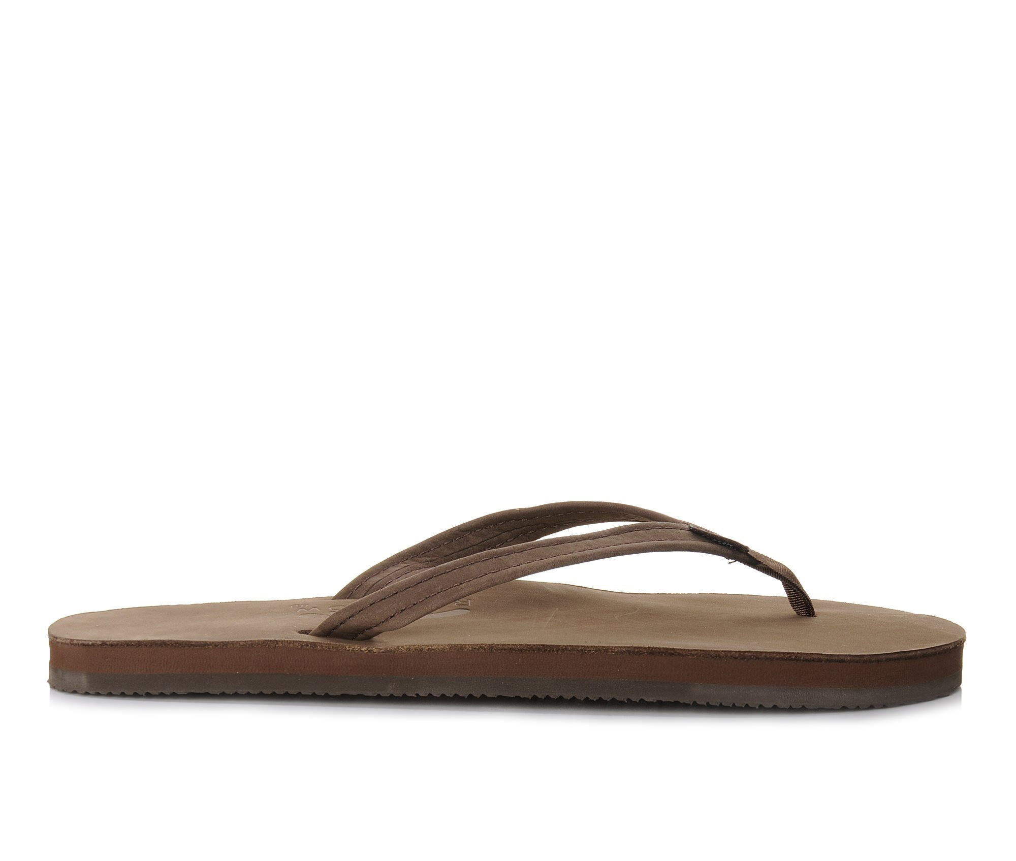 Women's Rainbow Sandals Single Layer Premier Leather -301ALTSN Flip-Flops Espresso