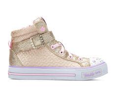 Girls' Skechers Shuffles Twinkle Charm 10.5-4 High Top Light-Up Shoes