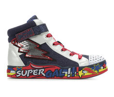Girls' Skechers Little Kid Super Gal Twinkle Toes Light-Up High-Top Sneakers