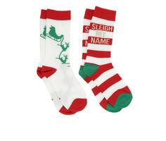 Apara 2p Holiday Crew Socks