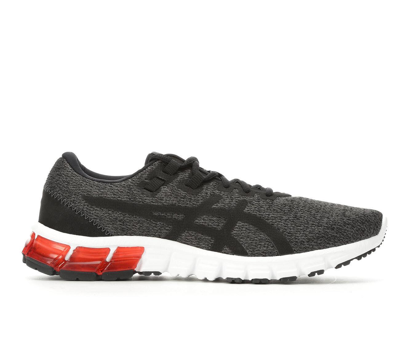 Men's ASICS Gel Quantum 90 Running Shoes Gry/Bk/Wht/Rd