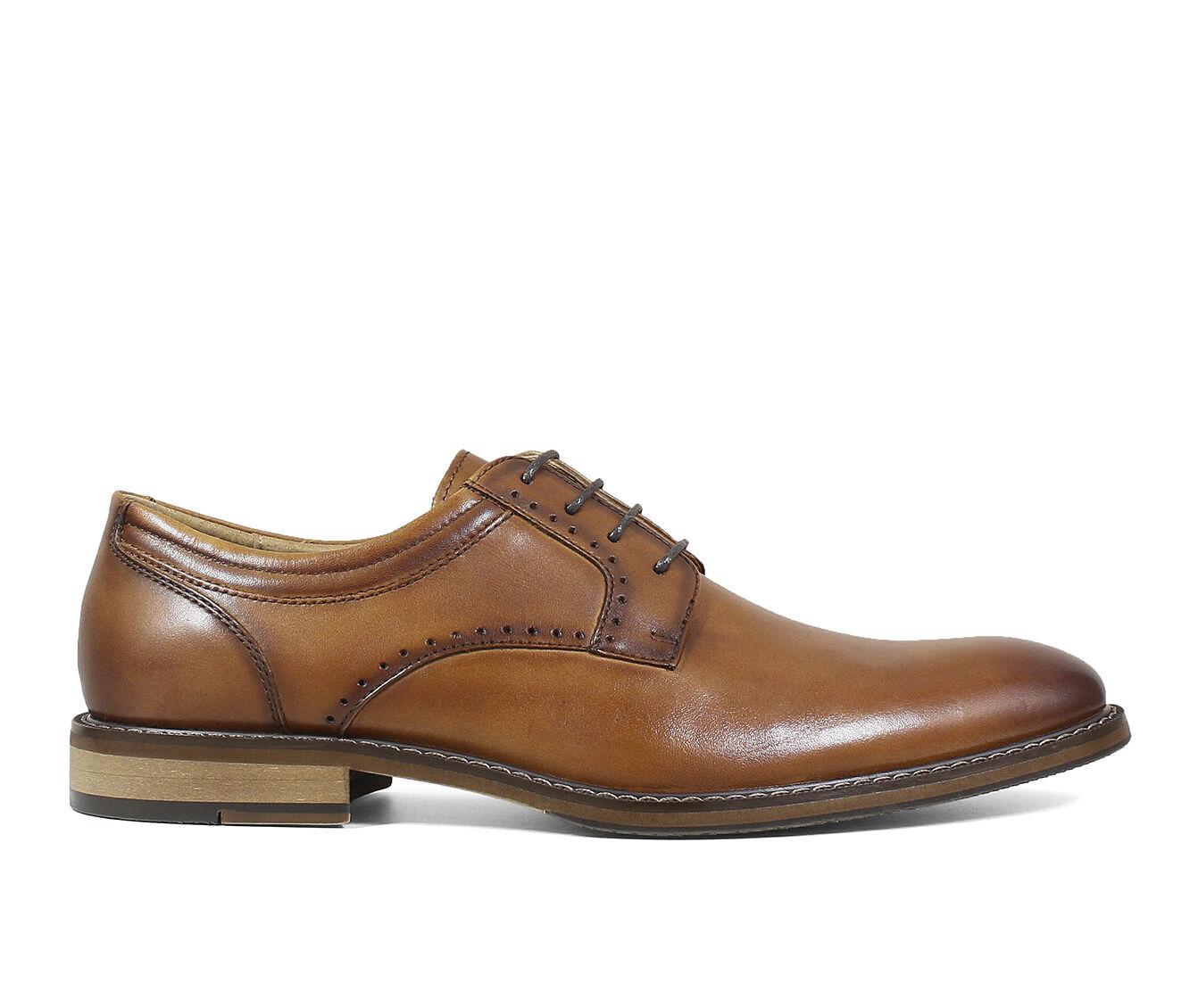global ship Men's Stacy Adams Faulkner Dress Shoes Cognac