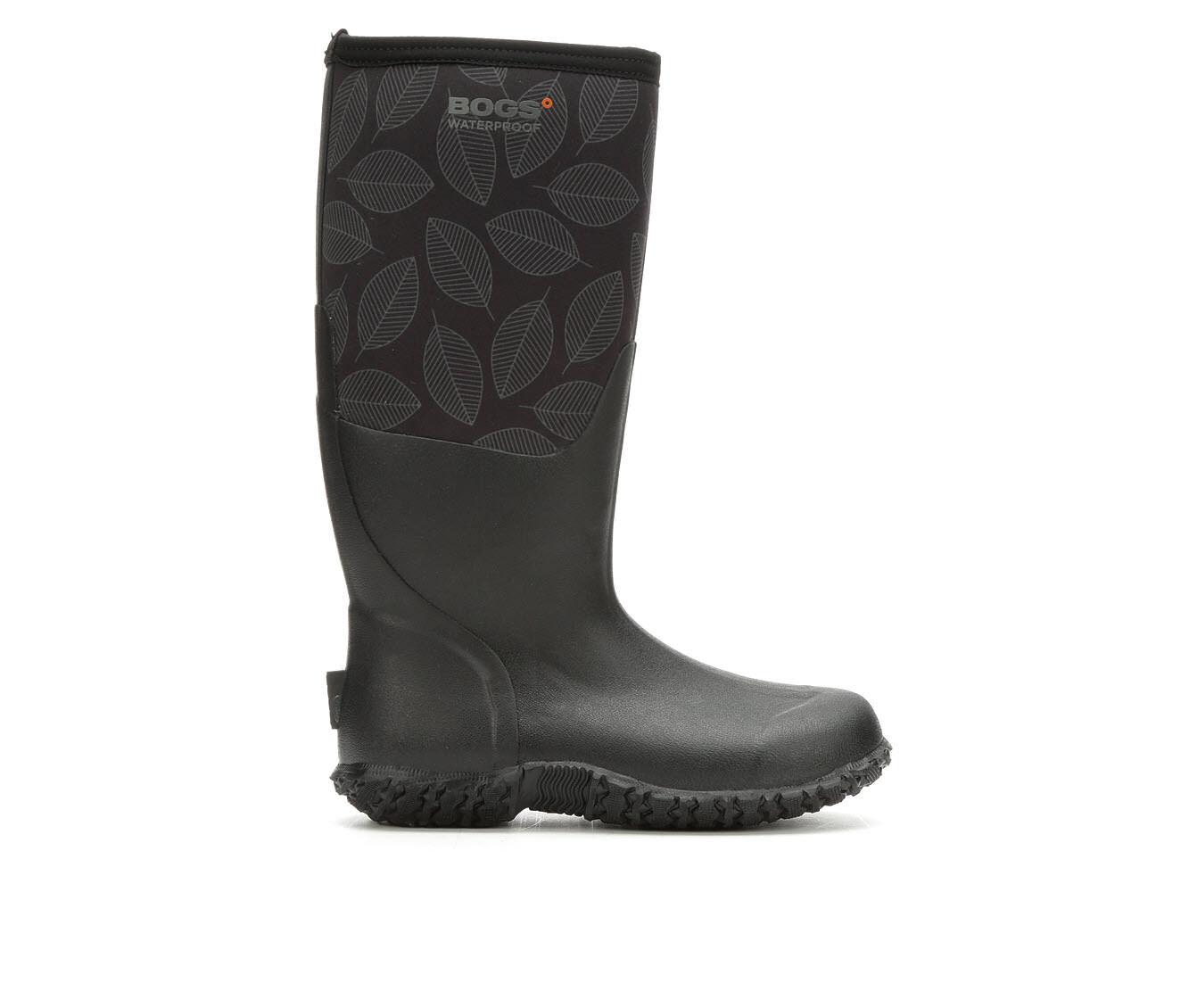 Women's Bogs Footwear Carver Winter Boots Black Leafy