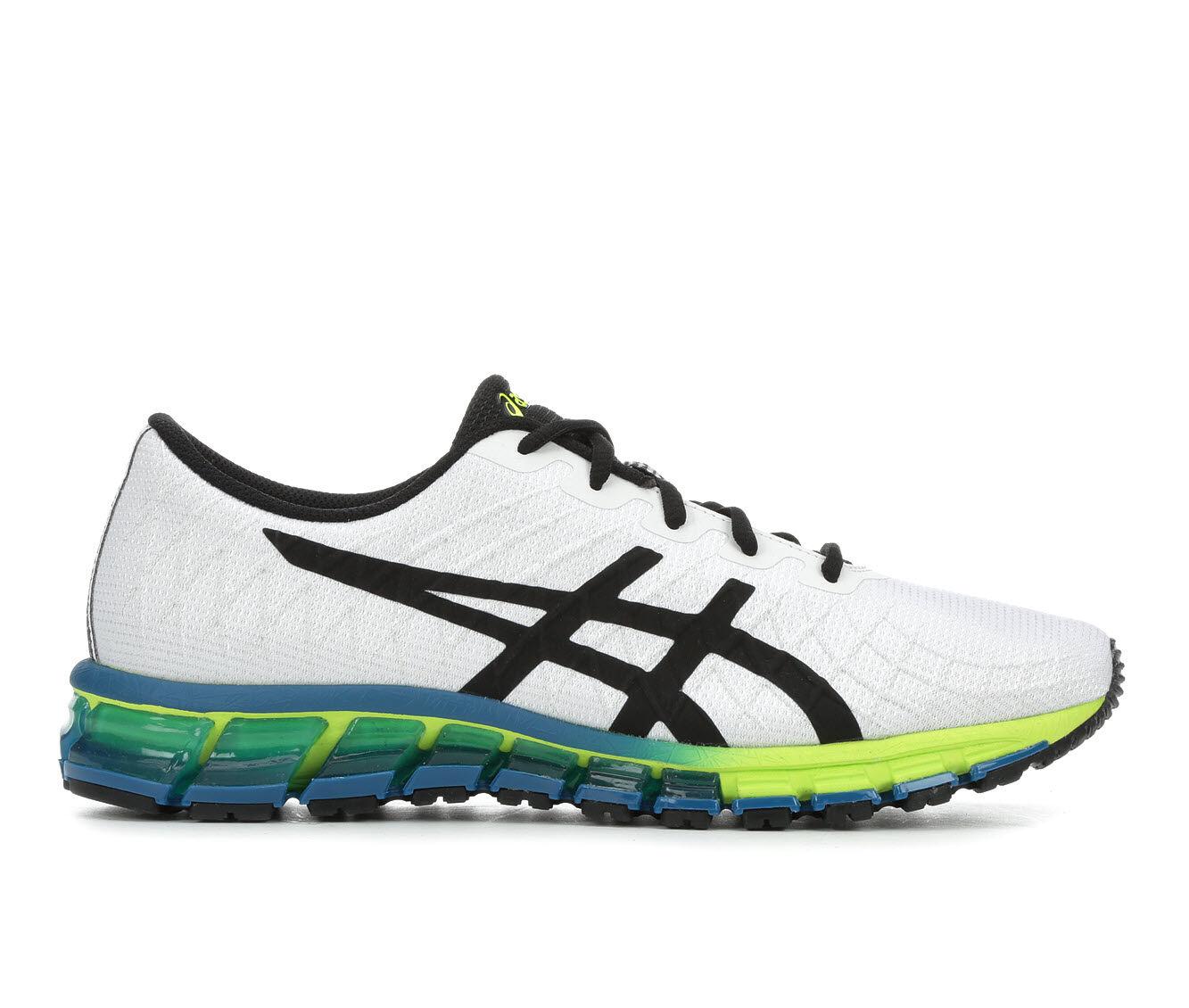 Men's ASICS Gel Quantum 180 4 - M Running Shoes Wht/Grn/Yell