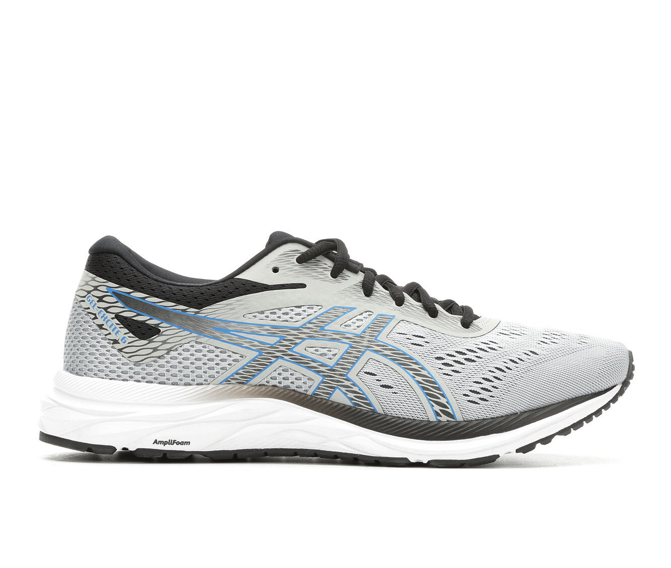 Men's ASICS Gel Excite 6 Running Shoes Gy/Bl/Bk/Wh