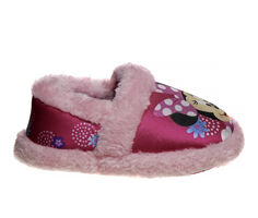 Disney Toddler & Little Kid Minnie Mouse Furry Slip-On Slippers