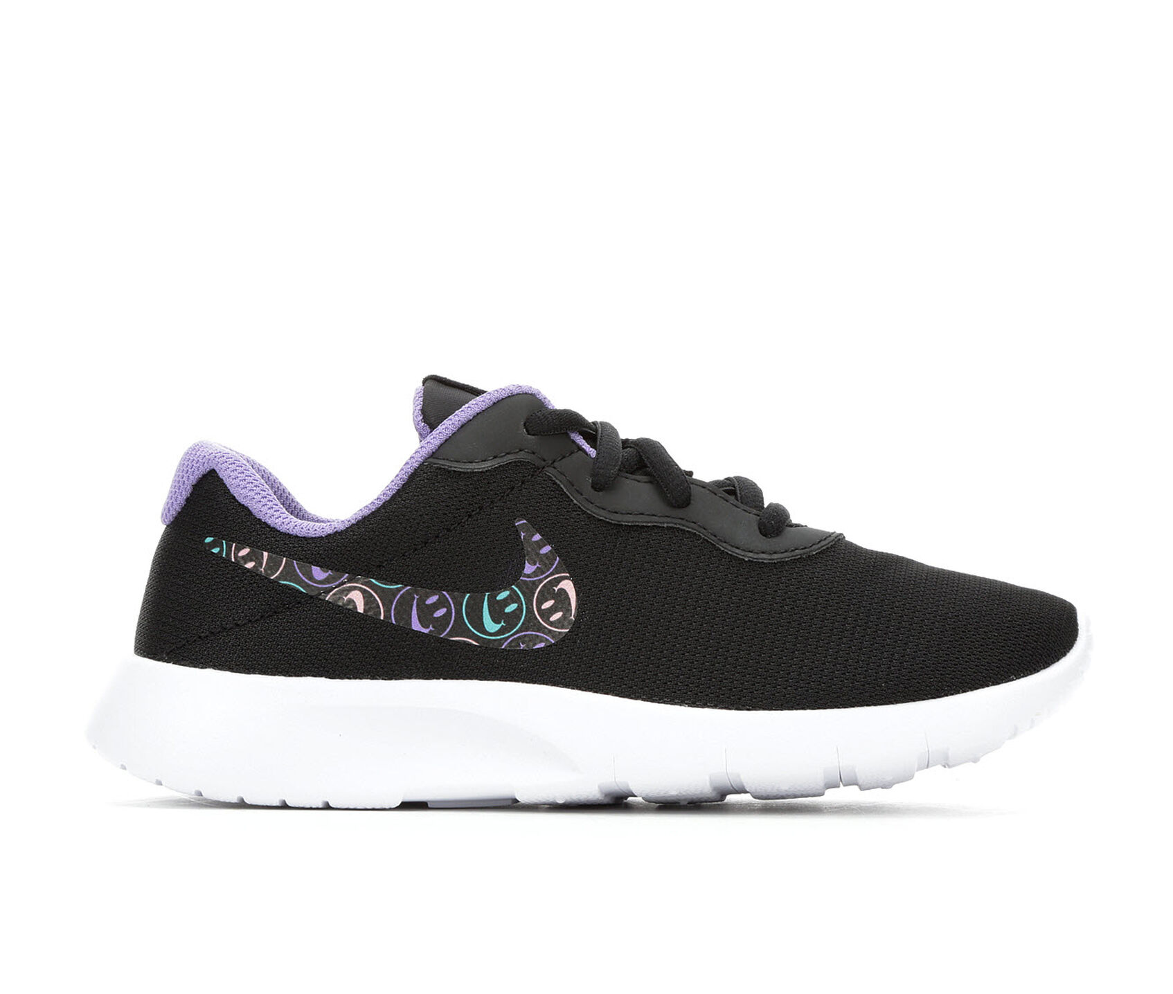 23110fc2a421 Girls  Nike Little Kid Tanjun Print Have A Nice Day Running Shoes ...