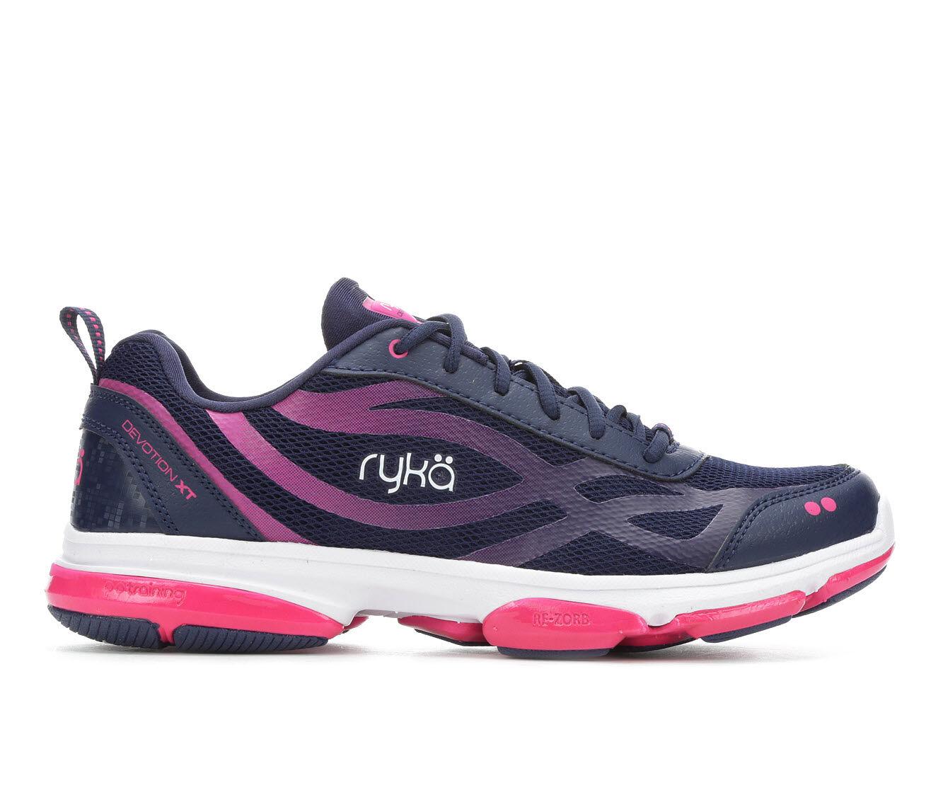 Women's Ryka Devotion XT Training Shoes Blue/Pink/White
