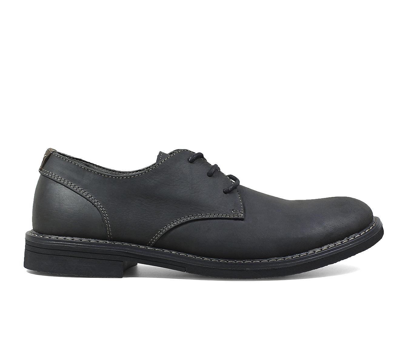 Men's Nunn Bush Linwood Plain Toe Oxford Dress Shoes Black
