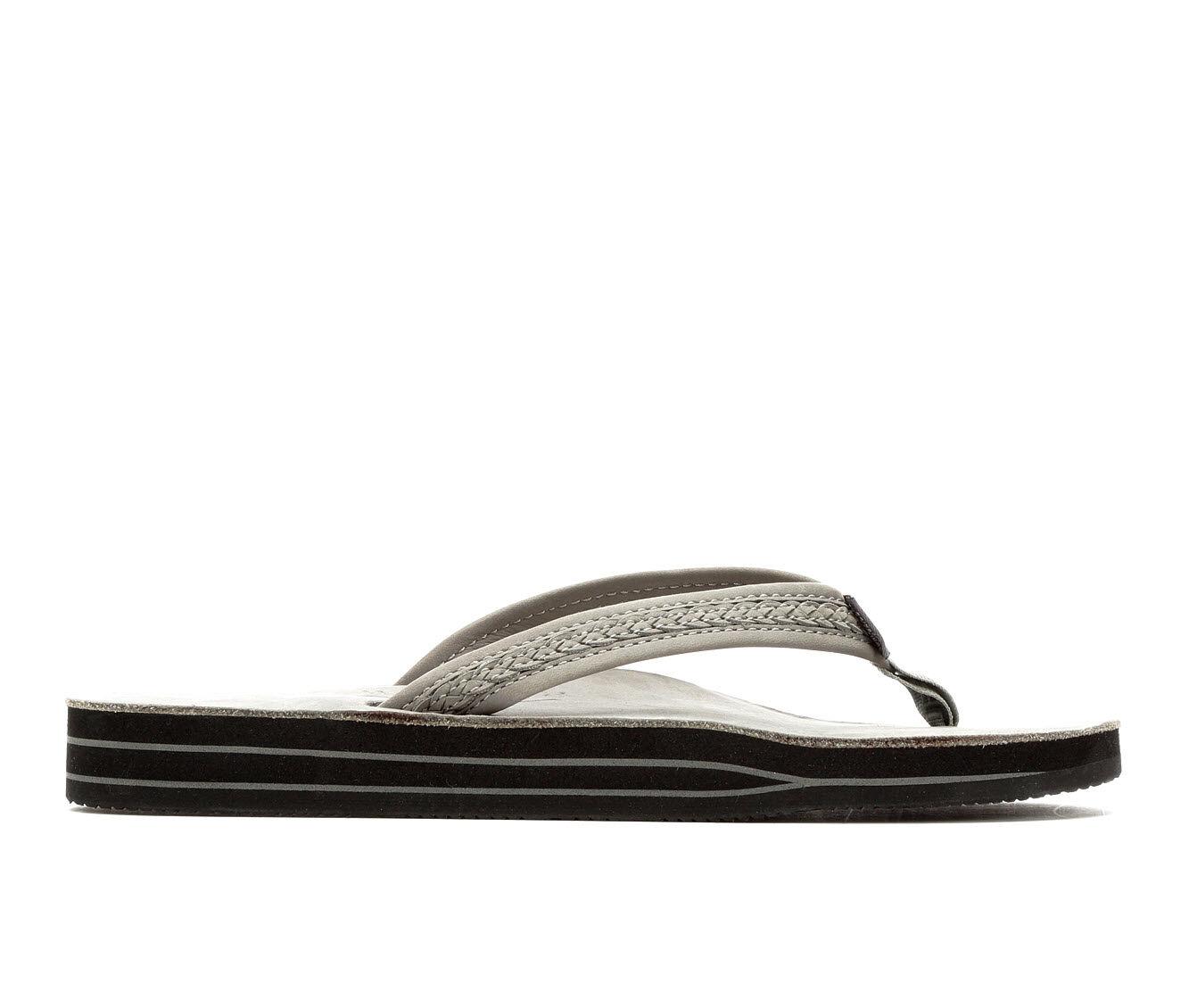 Women's Rainbow Sandals Willow Leather Flip-Flops Grey