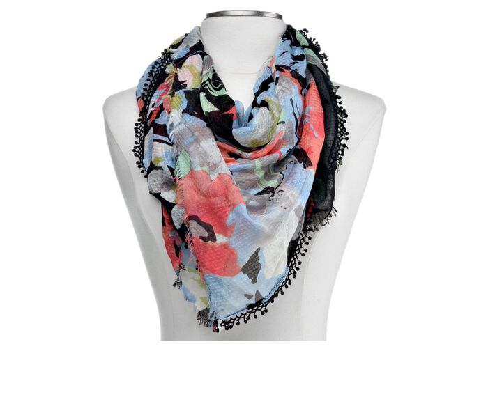 Collection 18 Watercolor Blooms Loop Scarf